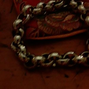 Polished Rolo Link Bracelet 8.5""